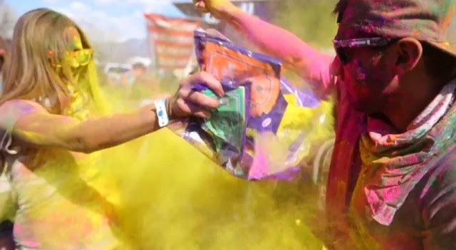 holi by Parker Walbeck Holi slow motion with two people- saved by Chic n Cheap Living