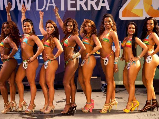 Finalistas na disputa para Rainha do carnaval (Foto: Divulgação/Riotur)