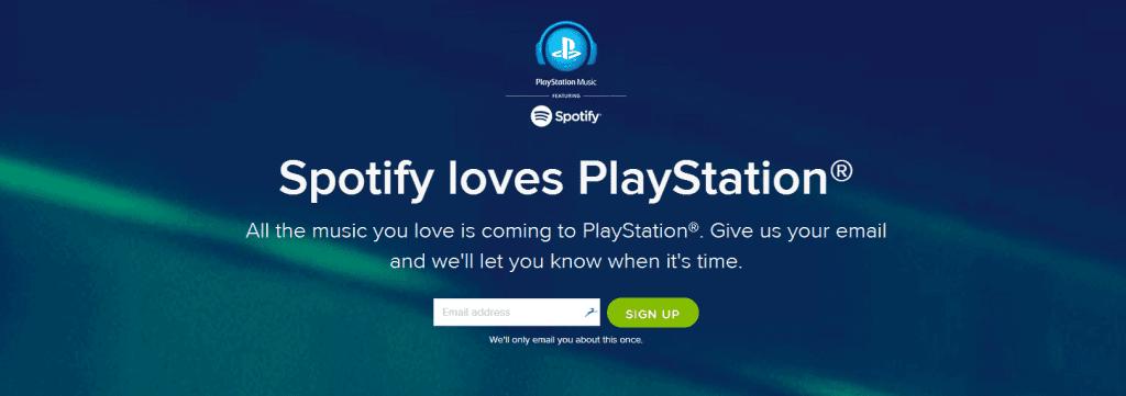PlayStation Music é o novo serviço em parceria com a Spotify