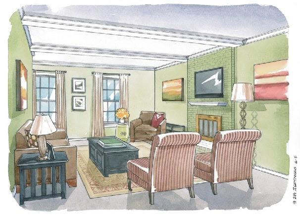 Making a living room a sophisticated yet family-friendly space ...