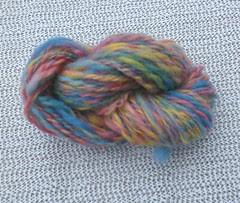 Rainbow blue handspun corriedale yarn