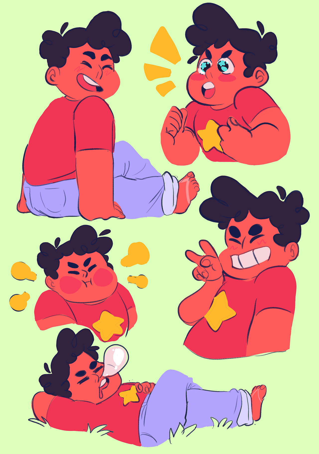 cleaned up some old doodles of my son