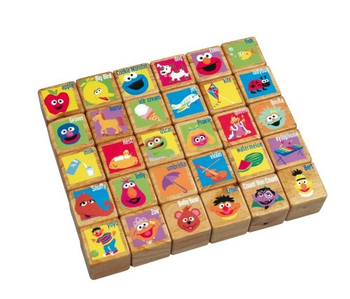 Numbers Foam: Sesame Street Wooden Alpha Blocks