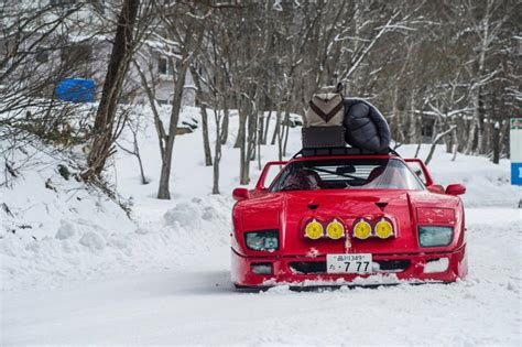 ferrari  tackles  snow