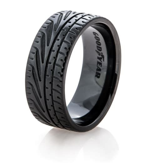 goodyear eagle  supercar tire wedding ring titanium buzz