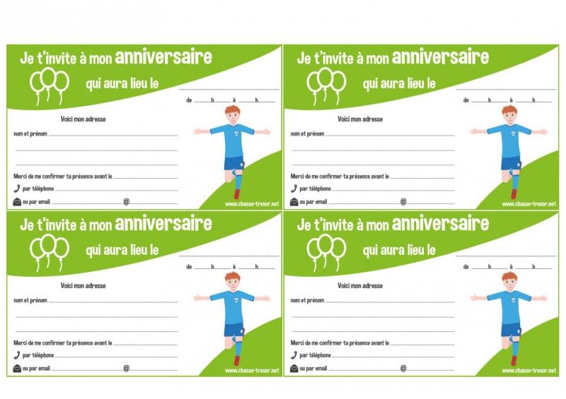 Carte Anniversaire A Imprimer Theme Foot Carte Lisaoycwilson Site