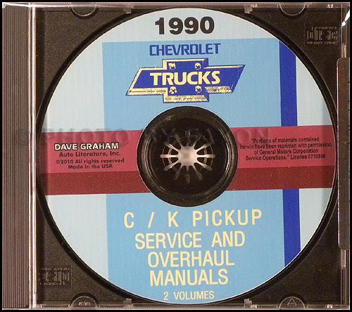 1990 Chevy 1/2, 3/4, & 1 ton Truck Overhaul Manual Original