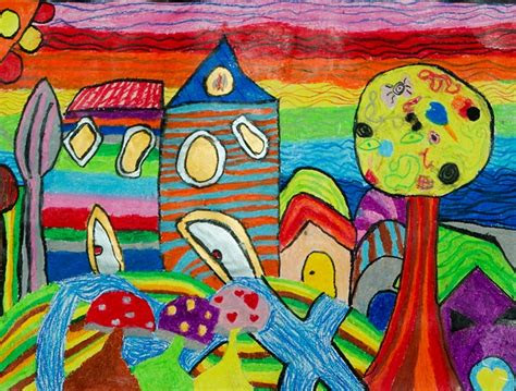 children drawings coloring houses  photo  pixabay