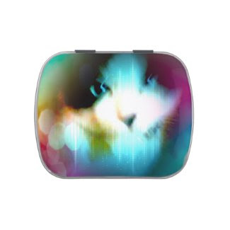 snowshoe rainbow kitty candy tins