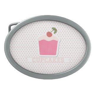 Cupcakes & Polka Dots Belt Buckle