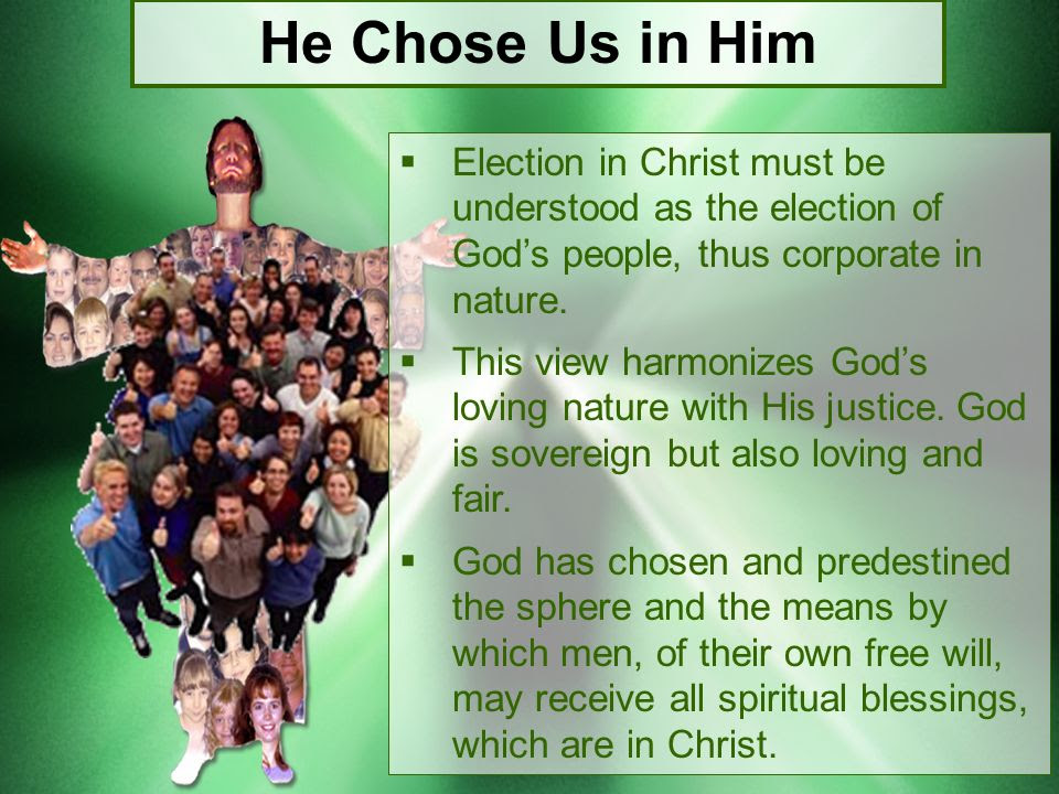 Image result for corporate election in Christ