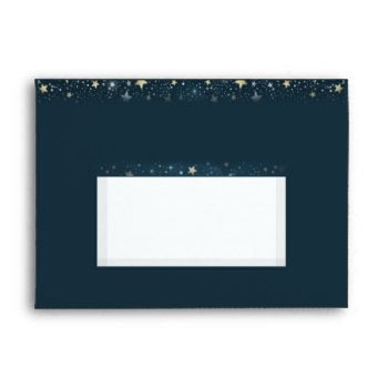 Teal Gold White Moon & Stars Matching Wedding Envelope by juliea2010 at Zazzle