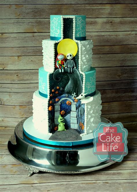 Nightmare Before Christmas wedding cake. This was the