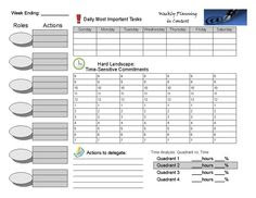 franklin covey weekly planner template   Time Management ...