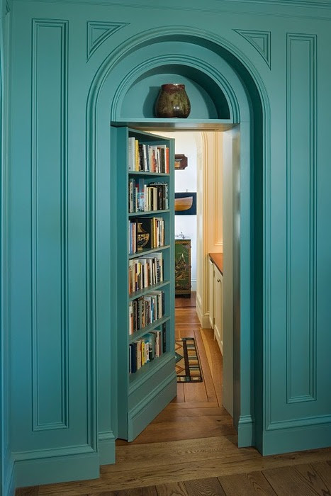 Secret Library Room,  Penobscot Bay, Maine