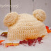 hats crochet hat bear