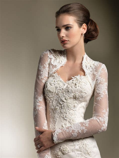 Wedding Dresses With Sleeves ? Elegant Lace Sweetheart