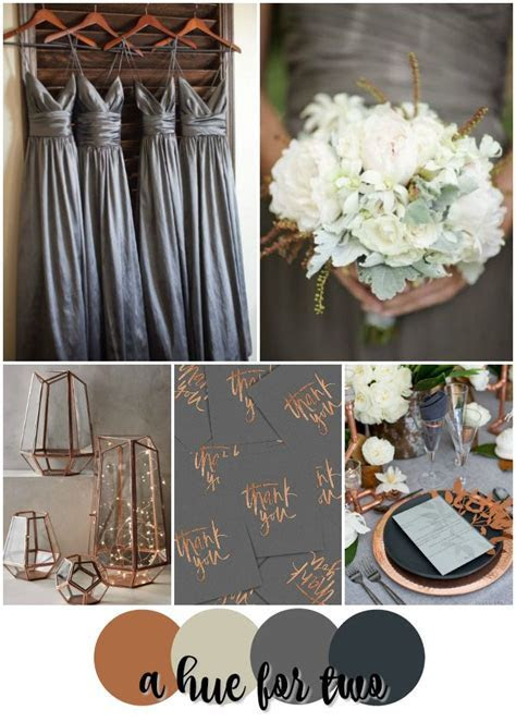 Classic Copper, Ivory and Grey Wedding Colour Scheme