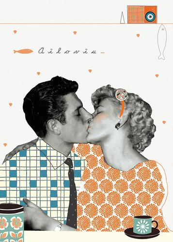 Retro first kiss by la casa a pois
