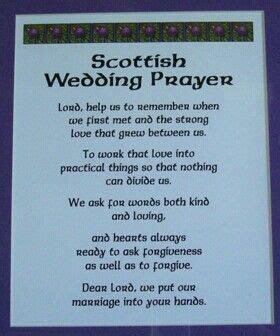 Scottish Wedding Prayer   Scottish Sayings   Proverbs