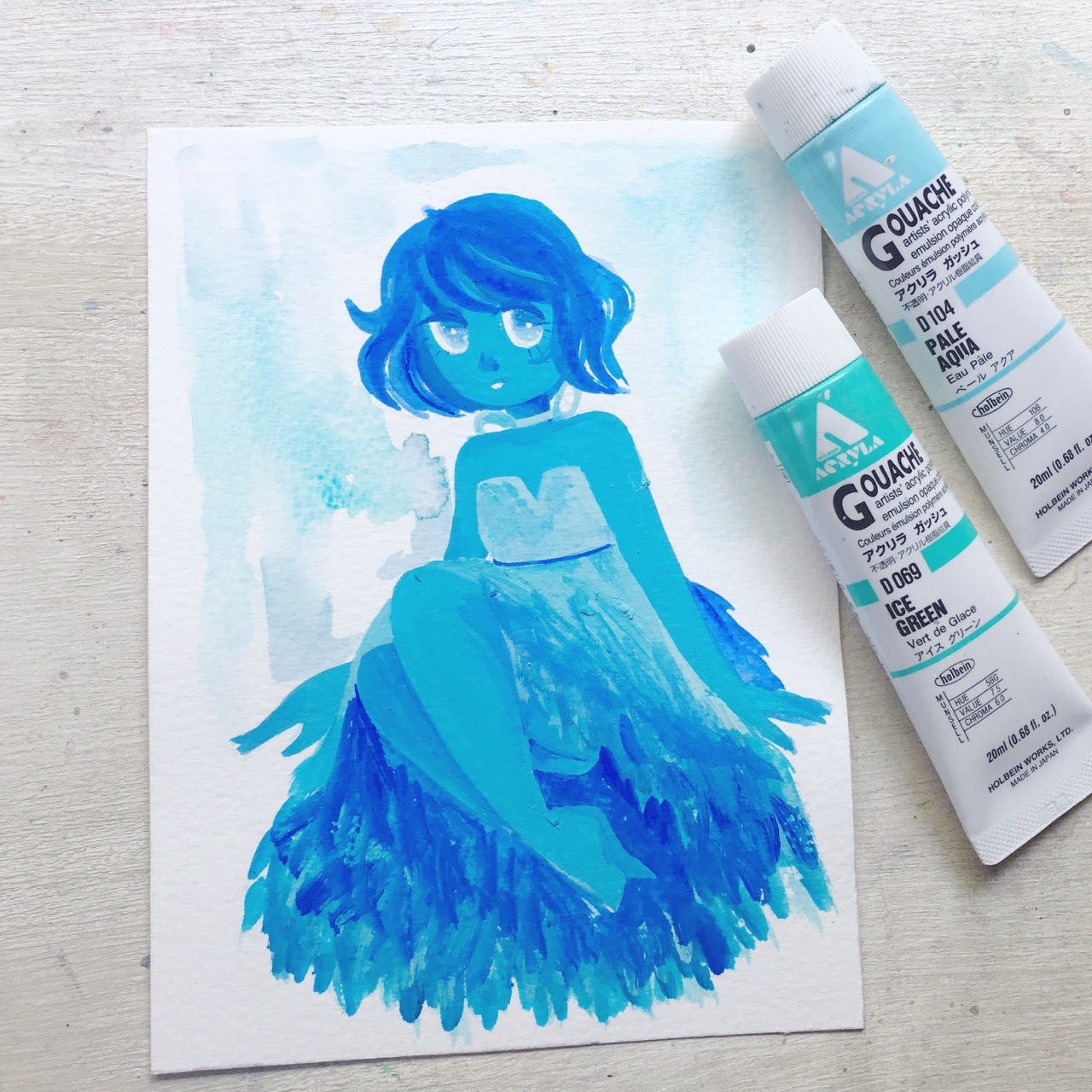 Lapis doodle from a couple weeks ago. I found it underneath some books.