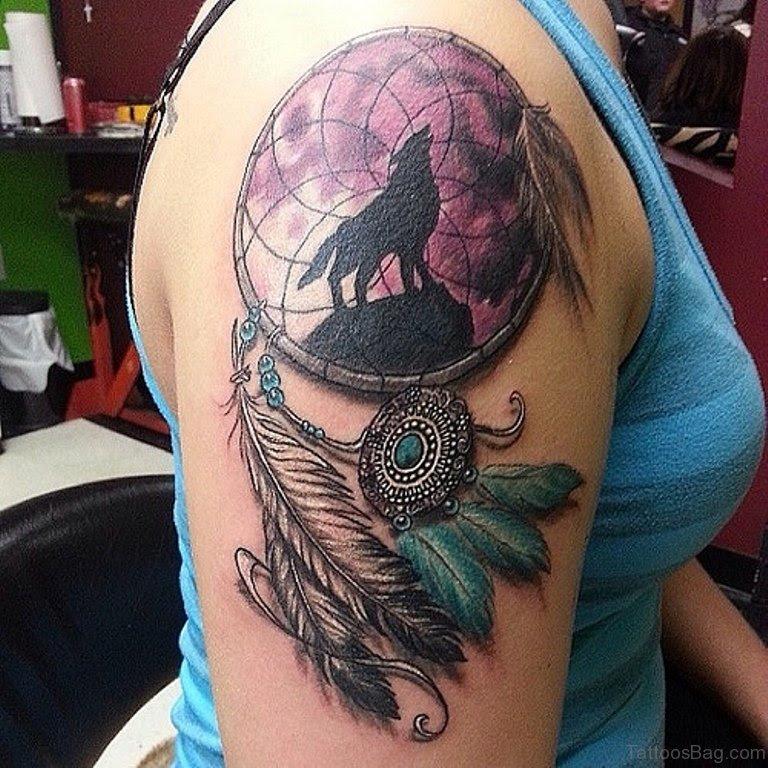 59 Ravishing Dreamcatcher Tattoos For Shoulder