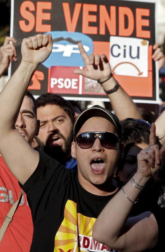 Manifestación de Democracia real ya en Valencia