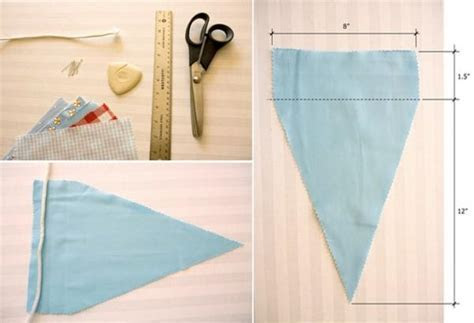 DIY Wedding Pennant Banner   Once Wed