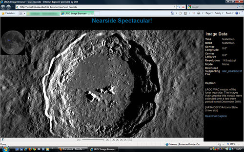 Screenshot of an awesome moon site