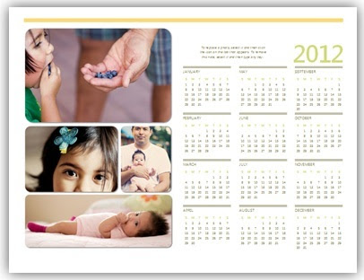 Gambar: Contoh kalender di Microsoft Word