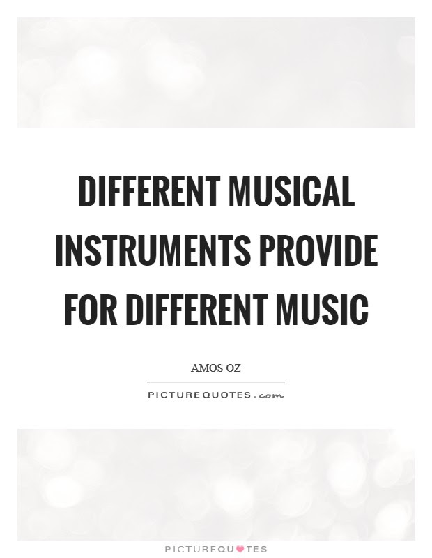 Different Musical Instruments Provide For Different Music Picture Quotes