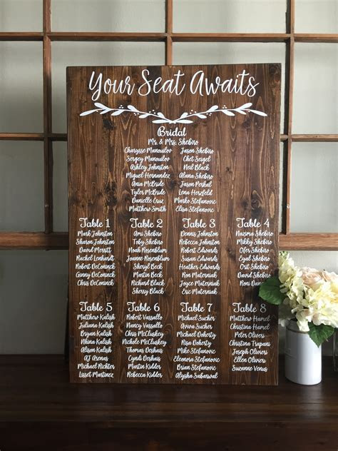 Rustic wedding seating plan wood sign   Your Seat Awaits
