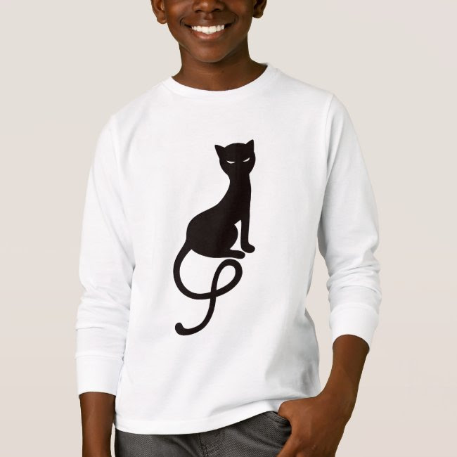 Gracious Evil Black Cat Long Sleeve Kids