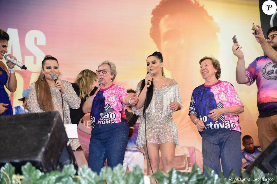 Maiara e Maraísa cantaram com As Galvão o samba-enredo da Rosas de Ouro para este carnaval