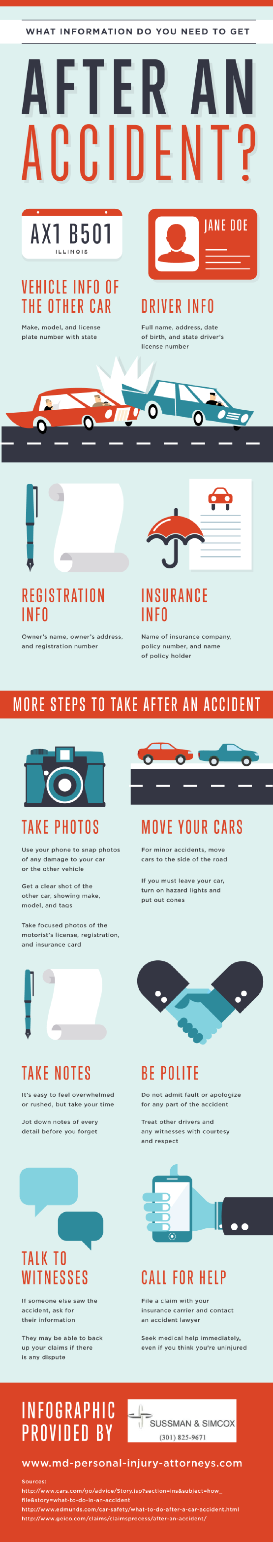 Infographic: What Information Do You Need To Get After An Accident