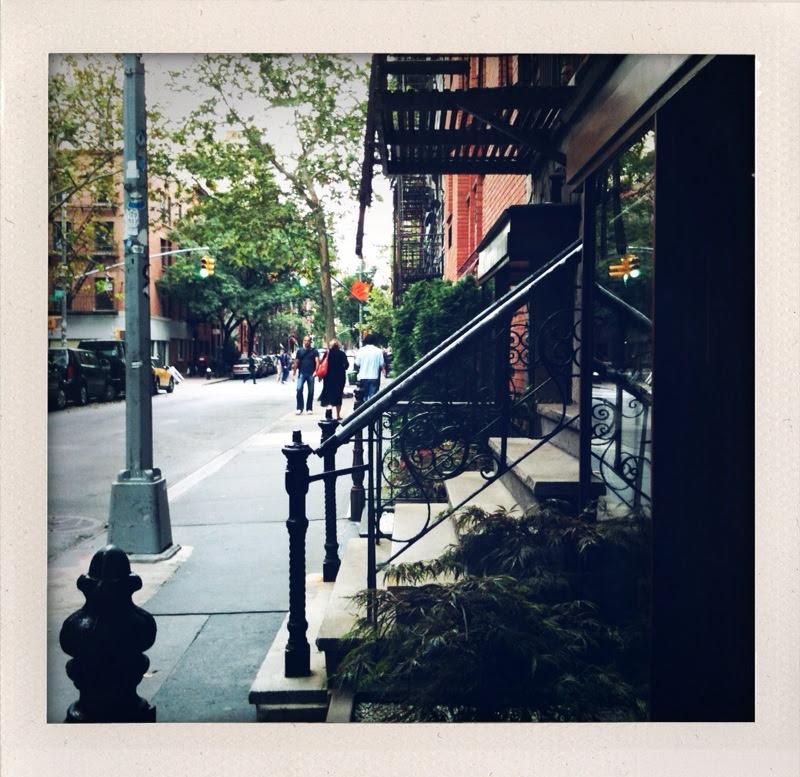 a calm soho sidewalk