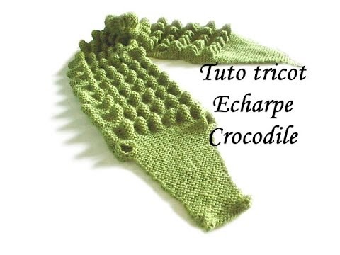 les tutos de fadinou tuto tricot echarpe crocodile. Black Bedroom Furniture Sets. Home Design Ideas