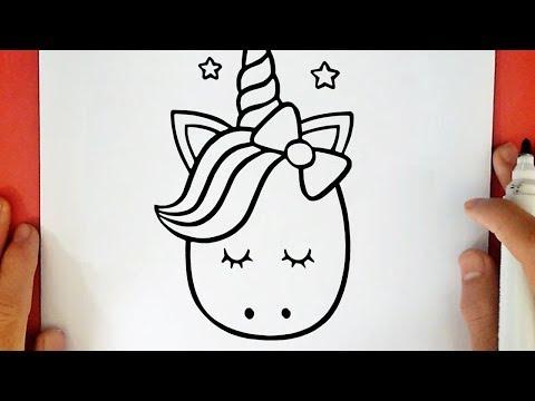 Guuhdesenhos Como Desenhar Um Unicórnio Kawaii
