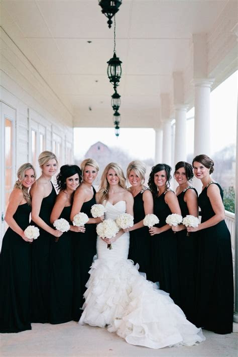 Black is back: Black bridesmaids' dresses   Easy Weddings