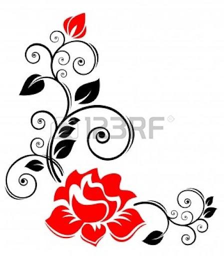 Borders Clip Art Black Roses