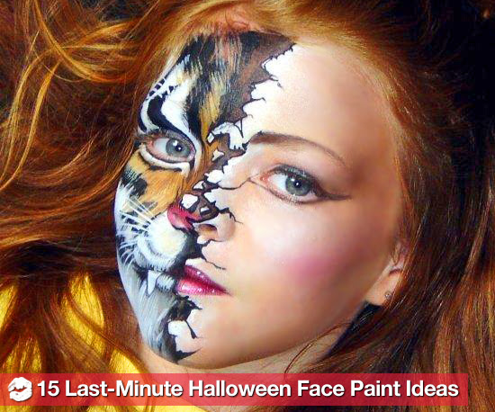 Simple Halloween Face Paint Ideas Images &amp Pictures  Becuo - Cool Halloween Face Paint