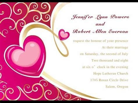 Wedding Invitations Card   YouTube