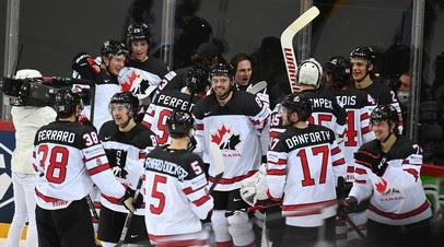 Появилось видео реакции сборной Канады на победную шайбу в ворота России на ЧМ-2021