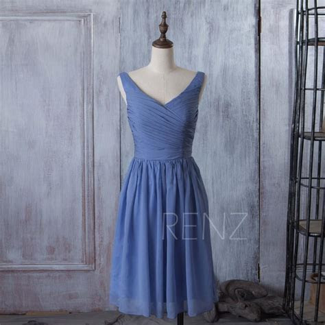 Light Blue Tulle Sleeveless Tea Length Bridesmaid Dress