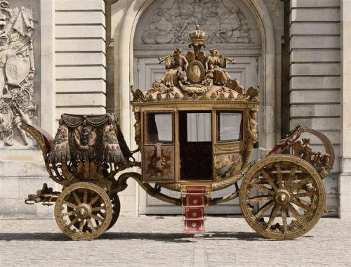The coronation coach of Charles X (otherwise know as Charles Philippe, the comte d'Artois)
