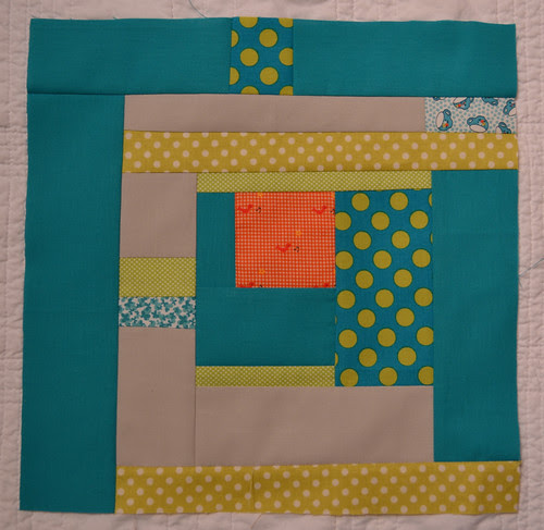 Aqua and Orange Bee - blocks for Betsy