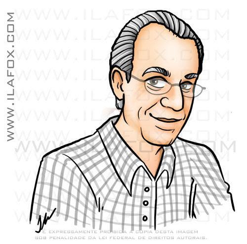 Desenho caricatura rosto senhor, Nicolau, by ila fox