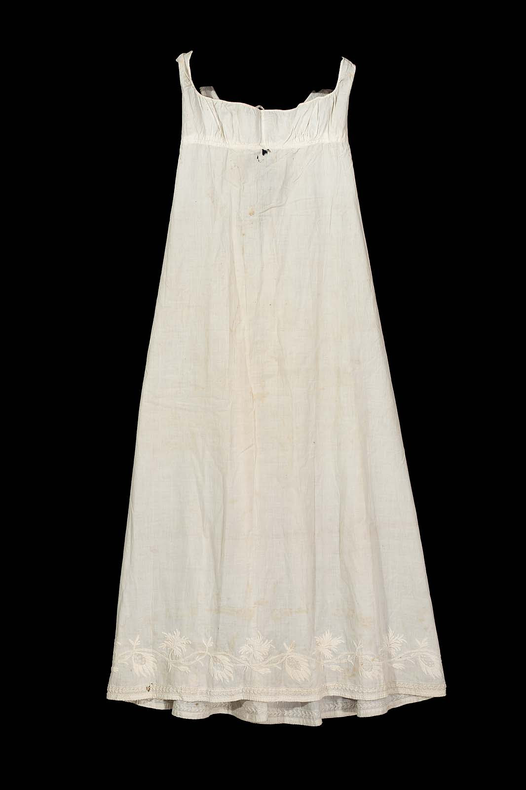 Early 1820s petticoat from the Museum of Fine Arts Boston.