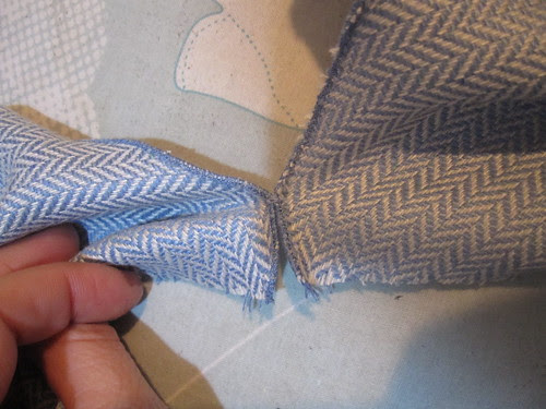 Hand Tack at Rolled Hem for Exact Match