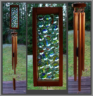 Wind Chime, windchime, cats-eye marbles, copper, handcrafted